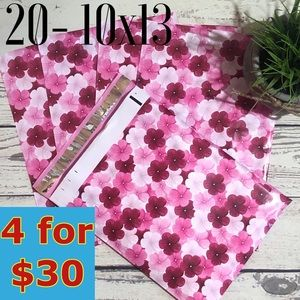 20- 10x13 Hibiscus Print Poly Mailers